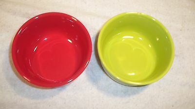 Fiestaware, 2  Gusto Bowls, (1) Scarlet Red & (1) Chartreuse
