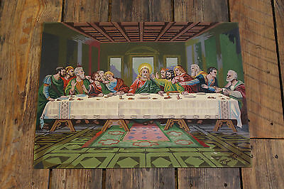 """1960's Vintage """" Paint by Number Jesus """"  /  """" The LAST SUPPER """""""