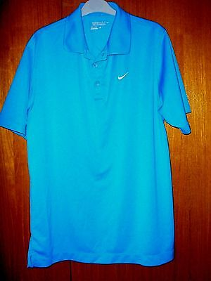 Nike Golf Shirt Blue Tour Performance size M 39/41 made in 2012 Polo Shirt