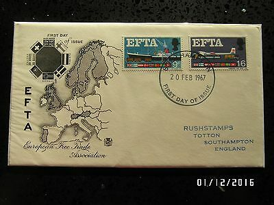 GB STAMPS FDC - EFTA - EUROPE MAP -  SOUTHAMPTON CANCEL -1967 - USED - 99p START
