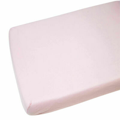 2x Jersey Fitted Sheet 100% Cotton Crib 40x90cm Pink