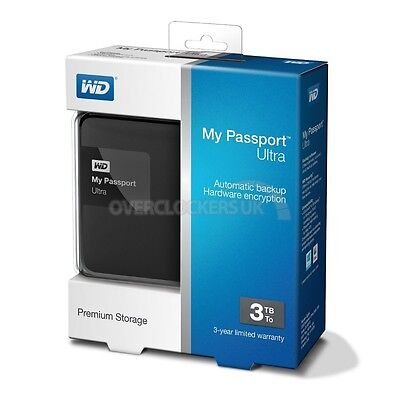 New! Factory Sealed! My Passport Ultra External Harddrive 3TB