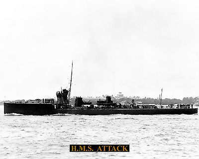 Royal Navy Destroyer Hms Attack 1911 Photograph  With Technical Sheet
