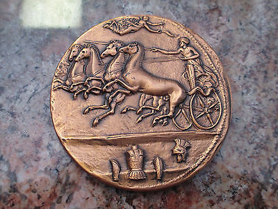 EUAENETOS GREEK BRONZE MEDAL / COIN by METAL ARTS CO. ROCHESTER NEW YORK in 1963