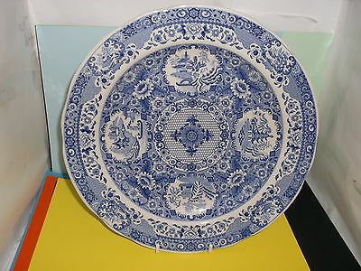 """SPODE 10"""" Display Plate 'NET' - Engravers' Archive Collection Blue & White"""