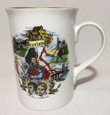 Scotland Piper Fine Bone China Mug -Scottish Landmarks and Cities Christmas Gift