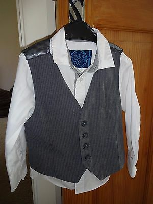 Shirt and waistcoat aged 4 years (Blue Zoo)
