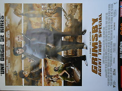 """AFFICHE POSTER GEANT GRIMSBY """"AGENT TROP SPECIAL""""  2016   180x120  TBE NON PLIEE"""