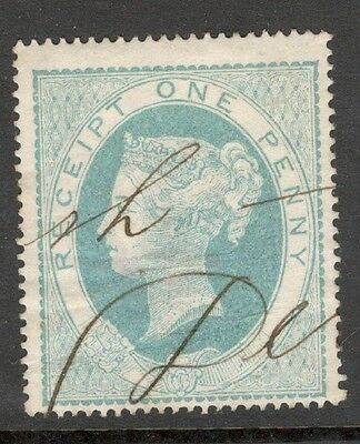 Queen Victoria  - SG F1 - 1d Light Blue - Used (£20.00) - Rectangular Buckle