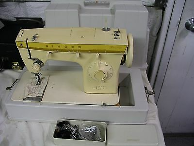 Vintage Singer Fashion Mate Model 360 Sewing Machine & Extras Parts Or Repair