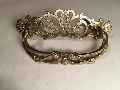 Antique Victorian Ornate Brass pull