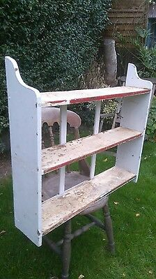 Antique pine shabby chic, three shelf unit