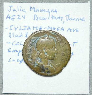 *HHC* Thrace, Deultum. Julia Mamaea, Emperor standing, Nice surfaces (Inv #P23)