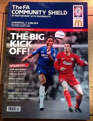 FA Community Shield 2006 Liverpool v Chelsea Official Matchday Programme