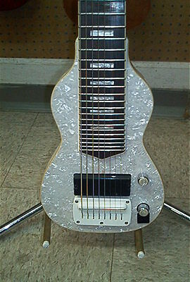Dillion Non Pedal 8 String Lap Steel Guitar RETRO Mother of Pearl Finish