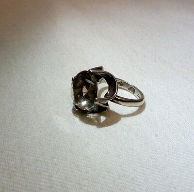 FAUER Taxco Mexican .925 Sterling Silver Smoky Quartz Ring Size 7.5