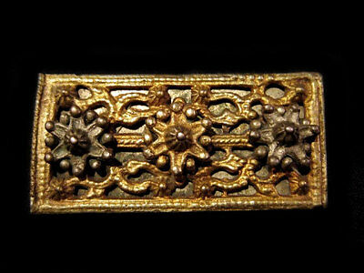 Extremely Rare Gorgeous Medieval Silver Gilt Belt Mount Decoration!!!