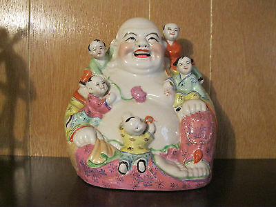 Porcelain Multi color Buddha with Children