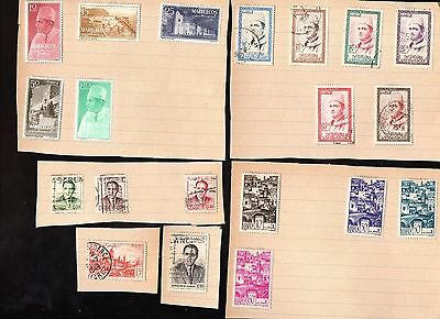 Selection of Stamps of Morocco from Stamp Album