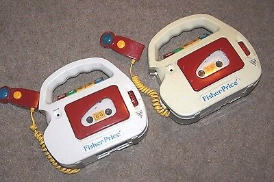 Fisher-Price Vintage Cassette Player & Recorder with Mic Model 3800 1992 LOT 2