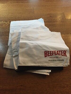 Vintage Lot Of 8 Beefeater Gin Chef's Apron, (Oilcloth) Half Apron New