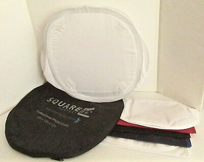Square Perfect 2085 12-Inch Light Tent Photo Cube Softbox, 4 Colored Backgrounds