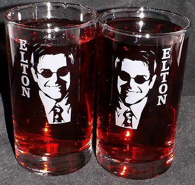 New Etched 'Elton John'  Hi-ball Glass(es)  -  Can be personalised  (HM13)