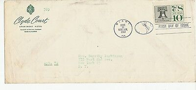 US Stamps - Let Freedom Ring Air Mail - FDC - Miami FL  6/10/60 - Scott #C57