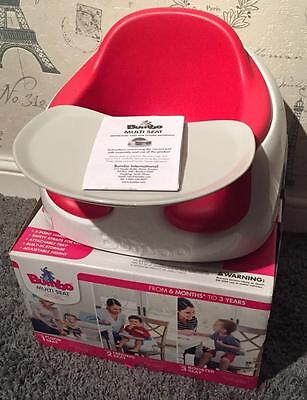 *New, Boxed, Bumbo 3 in 1 Multi Floor, Booster Seat, Red*