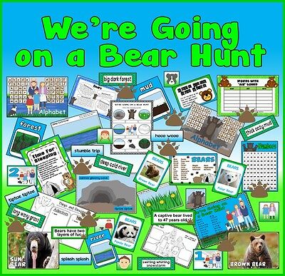 *cd* We're Going On A Bear Hunt Story Teaching Resources Sack Eyfs Ks1 Reading