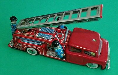 vintage tin toys fire engine 260mm long