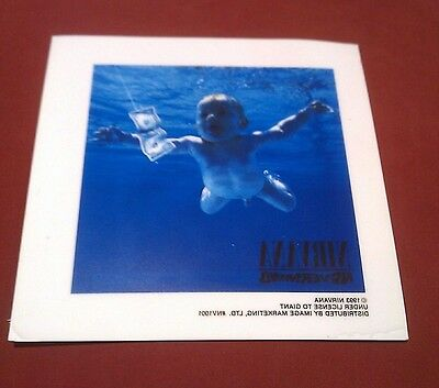"""Nirvana Nevermind Cover Window Cling 6""""x6"""""""