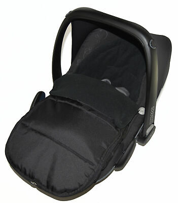 Car Seat Footmuff / Cosy Toes Compatible With Kiddy Evo Lunafix Black Jack