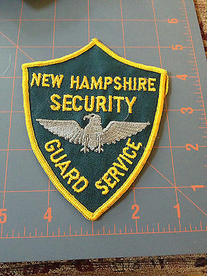 Old New Hampshire Security Guard Services Patch NH Private Police Eagle