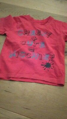 Lovely red cheeky and cute T-shirt 18-24  months by matalan