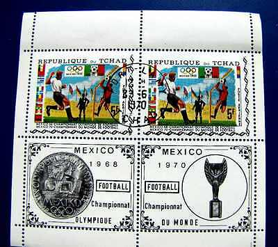 Football Mexico Olympique And Du Monde Games Pb Mnh Og 1968-70 (See Note)