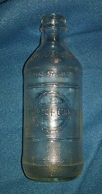 Vintage Pepsi Cola 10oz Embossed clear glass bottle