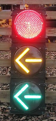 """12"""" Aluminum CH 3 section Mixed LED BALL and ARROW Traffic Signal Light"""