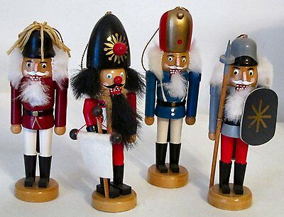 """Collectible - Nutcrackers - Collection of 4 Ornaments - 4 1/2"""" to 5"""""""