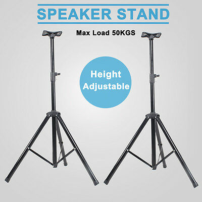 2X Professional PA Stage Speaker Stands Tripod Mount DJ Disco Height Ajustable