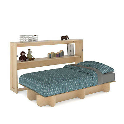 Twin Size Horizontal Wall Bed Easy DIY Murphy Wall Bed Hardware Kit and Plan