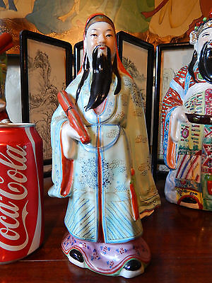 Vintage Chinese Asian Porcelain Buddha Ornament/ Statue