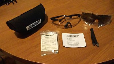NEW US ARMY MILITARY SURPLUS ESS ICE 2.4 SAFETY GLASESS KIT OEM wth No-fog wipe