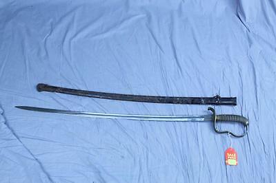WWII Unknown INFANTRY sword with metal scabbard