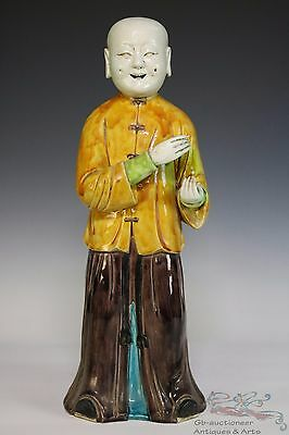 Famille Rose Beautiful Chinese Porcelain Boy Statue