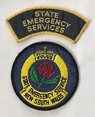 NSW State Emergency Service Patches - Used Old