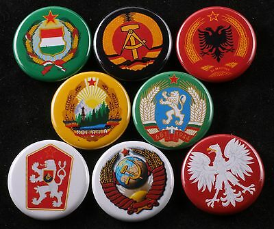 Magnet Lot Set of 8 Warsaw Pact Coat of Arms Soviet DDR Hungary CSSR Communist
