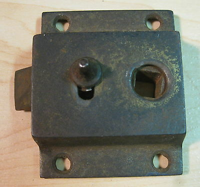 Vintage old Antique CABINET DOOR LATCH-heavy cast metal-restoration hardware