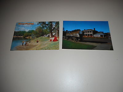 OLD POSTCARDS OF ECHUCA VICTORIA a total of 2 postcards