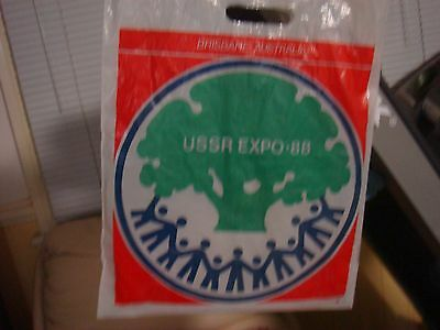 world expo 88 USSR (Russia) Sample Bag from Brisbane